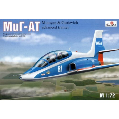 AMO-7239 1/72 Mikoyan MiG-AT Russian modern advanced trainer model kit