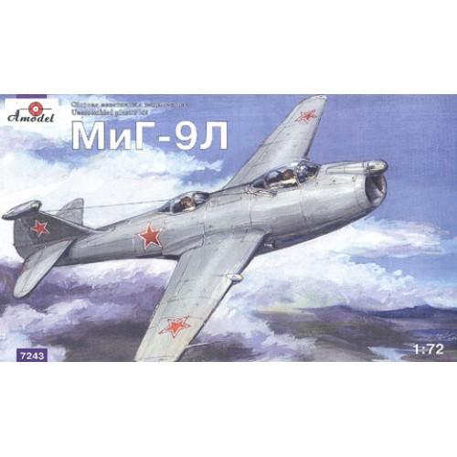 AMO-7243 1/72 Mikoyan MiG-9L Soviet experimental plane model kit
