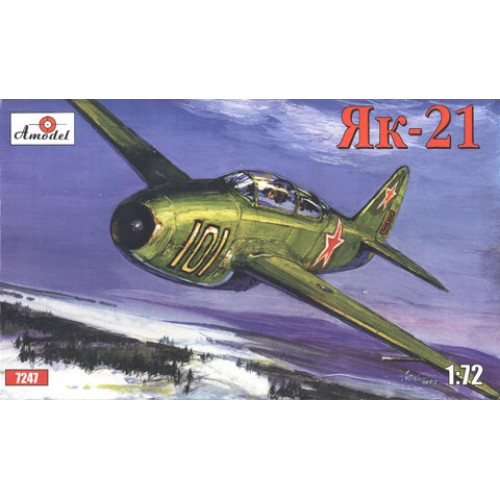 AMO-7247 1/72 Yakovlev Yak-21 Soviet Jet Fighter model kit