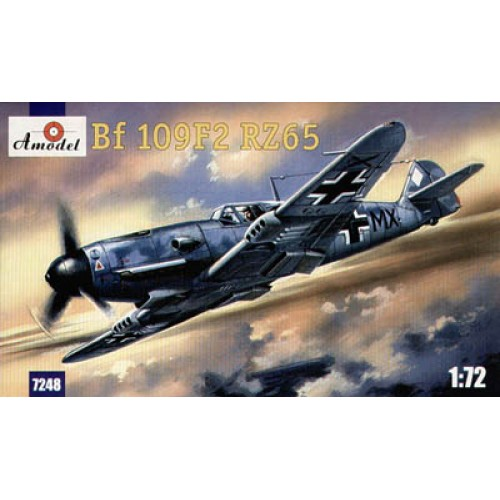 AMO-7248 1/72 Messereschmitt Bf-109F2 RZ65 German WW2 Fighter model kit