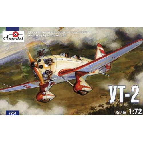 AMO-7251 1/72 Yakovlev UT-2 Soviet WW2 trainer model kit