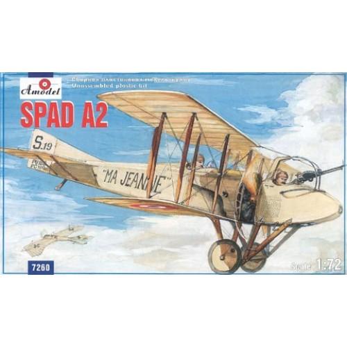 AMO-7260 1/72 SPAD A2 WW1 biplane model kit