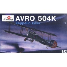 AMO-7268 1/72 AVRO 504K Zeppelin Killer WW1 Aircraft model kit