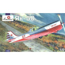 AMO-7269 1/72 Yakovlev Yak-50 Soviet Trainer model kit