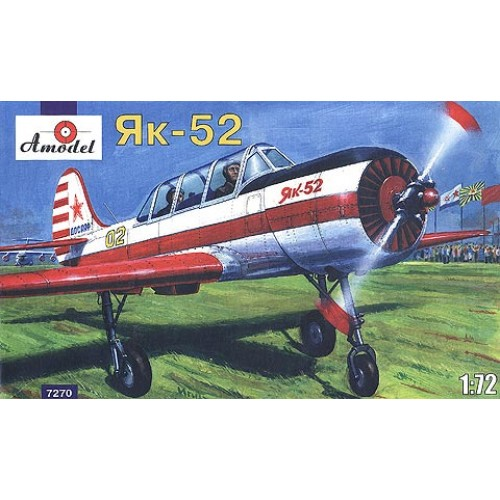 AMO-7270 1/72 Yakovlev Yak-52 Soviet Trainer model kit