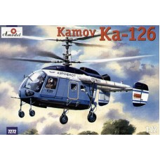 AMO-7272 1/72 Kamov Ka-126 Hoodlum Soviet Light Helicopter model kit
