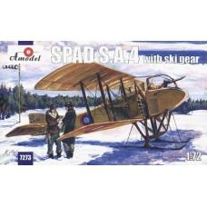 AMO-7273 1/72 SPAD S.A.4 with ski gears WW1 Aircraft model kit