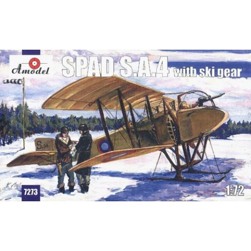 AMO-7273 1/72 SPAD S.A.4 with ski gears WW1 Aircraft model kit