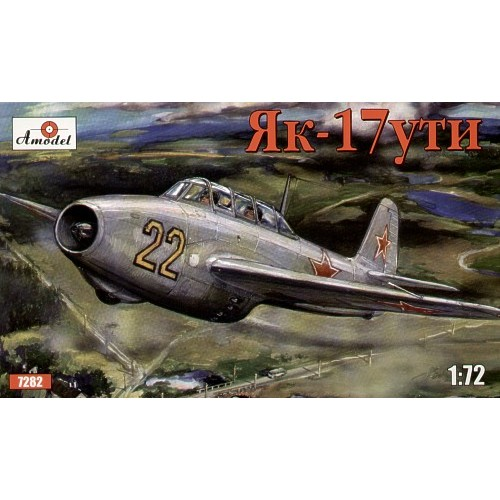 AMO-7282 1/72 Yakovlev Yak-17UTI Soviet Jet Combat-Training Fighter (two-seater) model kit