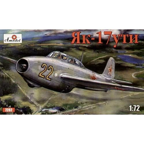 AMO-7282 1/72 Yakovlev Yak-17UTI Soviet Jet Combat-Training Fighter (two-seater) model kit