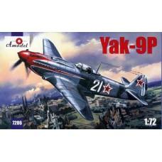 AMO-7286 1/72 Yakovlev Yak-9P Soviet Fighter model kit