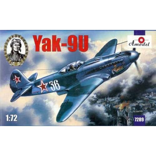 AMO-7289 1/72 Yakovlev Yak-9U Soviet Fighter model kit