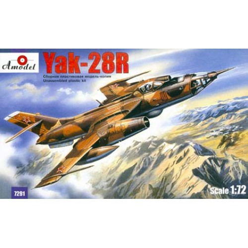 AMO-7291 1/72 Yakovlev Yak-28R Soviet Jet Fighter-Bomber (reconnaissance version) model kit
