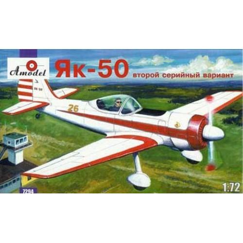 AMO-7294 1/72 Yakovlev Yak-50 Soviet Trainer (2nd Serial Variant) model kit