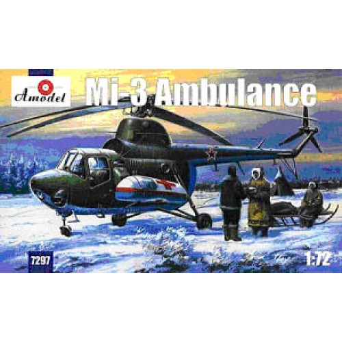 AMO-7297 1/72 Mil Mi-3 Soviet Ambulance Helicopter model kit
