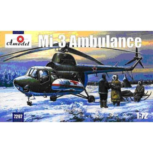 AMO-7297 1/72 Mil Mi-3 Soviet Ambulance Helicopter model kit