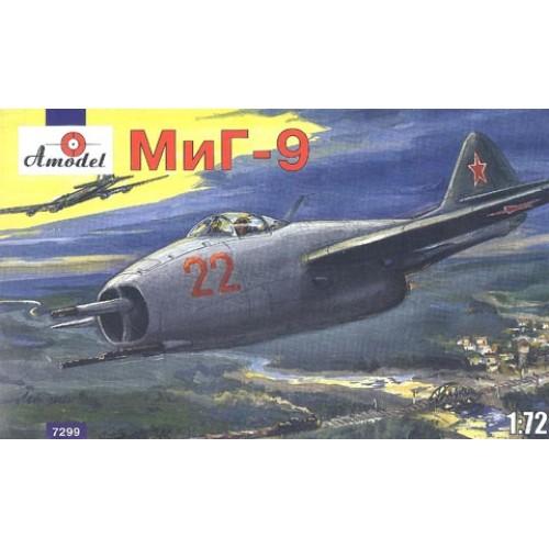 AMO-7299 1/72 Mikoyan MiG-9 Soviet Jet Fighter model kit