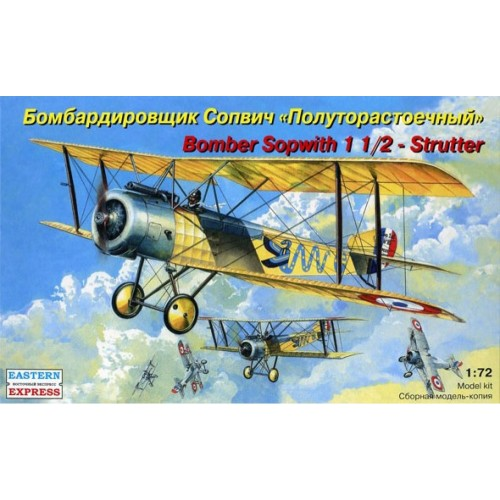 EST-72158 Eastern Express 1/72 Sopwith 1 1/2 Strutter British Bomber model kit