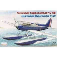 EST-72257 1/72 Supermarine S-6B pre-WW2 hydroplane model kit