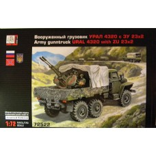 GRN-72522 Gran 1/72 URAL-4320 and ZU-23-2 Army Guntruck model kit