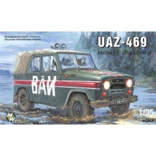 MWH-3503 1/35 UAZ-469 MILTARY POLICE Jeep model kit