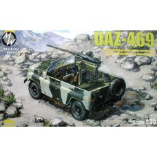 MWH-3505 1/35 UAZ-469 w/ KPV 14,50mm large-calibre machine gun (Afghanistan) model kit