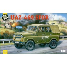 MWH-3507 1/35 UAZ-469 B SFOR . New mouldings + rubber wheels model kit