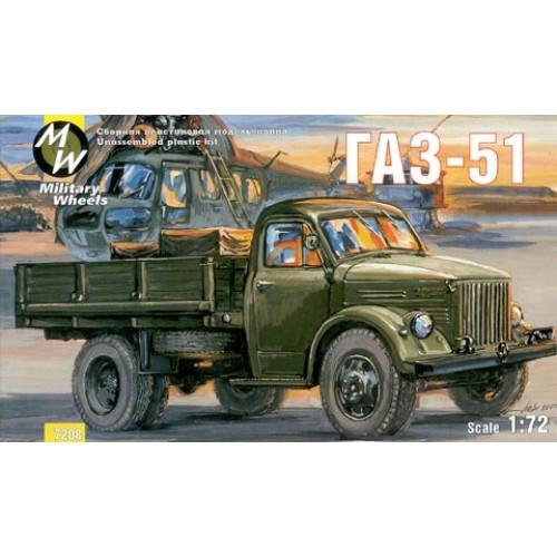 MWH-7208 1/72 GAZ - 51 RUSSIAN TRUCK model kit