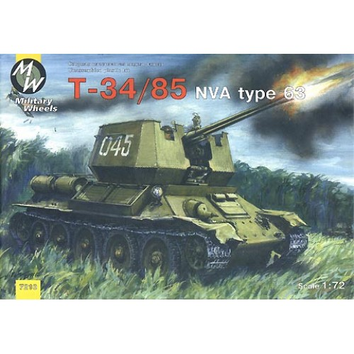 MWH-7210 1/72 T-34 NVA model kit