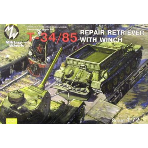 MWH-7212 1/72 T-34/85 REPAIR RETRIEVER WITH WINCH model kit