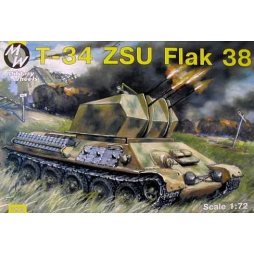 MWH-7213 1/72 T-34 ZSU Flak 38 / GERMANY / model kit