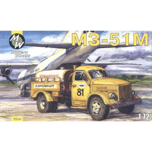 MWH-7214 1/72 GAZ - MZ-51M AIRPORT OIL-FILLING CAR model kit