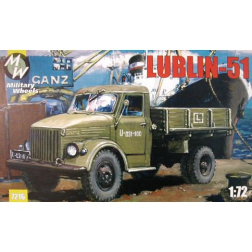 MWH-7216 1/72 LUBLIN 51 TRUCK model kit