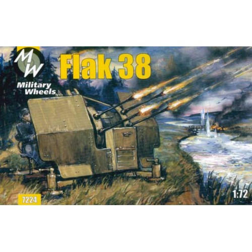 MWH-7224 1/72 Flak 38 / GERMANY / model kit