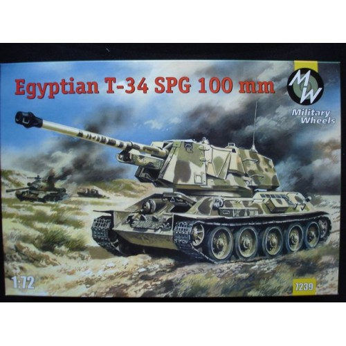 MWH-7239 1/72 T-35 SPG-100mm model kit
