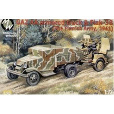 MWH-7243 1/72 GAZ AA armored truck and Flak-38. Finl 1941 model kit