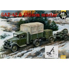 MWH-7250 1/72 Gaz-42 and 120mm mortar model kit