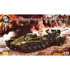 MWH-7258 1/72 T-60 and Flak-30 model kit