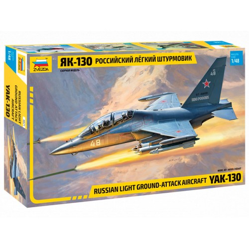 ZVD-4821 1/48 Yakovlev Yak-130 Russian Jet Trainer and Attack Aircraft model kit