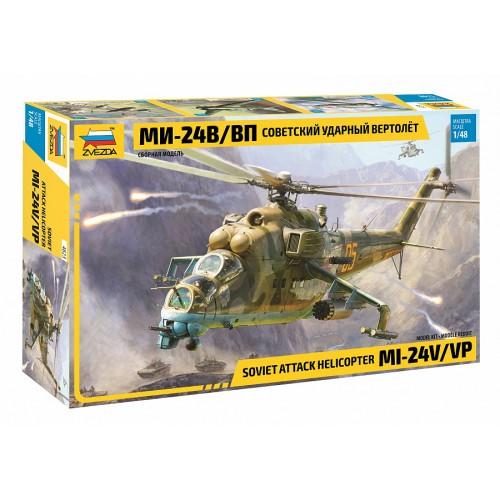 ZVD-4823 Zvezda 1/48 Mil Mi-24V / Mi-24VP Hind Russian Attack Helicopter model kit .... SALE ! ....... DISCOUNT 10% !
