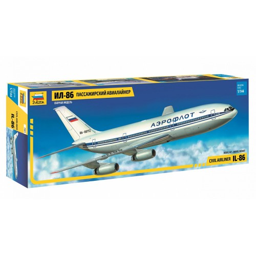 ZVD-7001 1/144 Ilyushi Il-86 Jet Airliner model kit