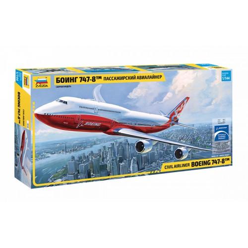 ZVD-7010 1/144 Boeing 747-8 Jet Passenger Airliner model kit