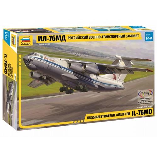 ZVD-7011 1/144 Ilyushin Il-76MD Jet Military Transport Aircraft model kit