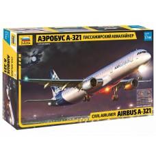 ZVD-7017 1/144 Airbus A-321 Jet Passenger Airliner model kit