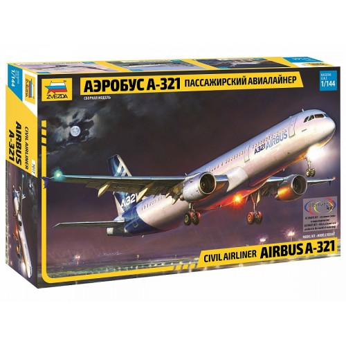 ZVD-7017 1/144 Airbus A-321 Jet Passenger Airliner model kit