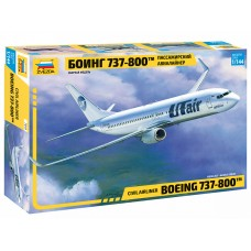 ZVD-7019 1/144 Boeing 737-800 Jet Passenger Airliner model kit