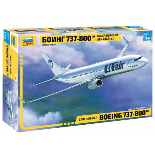 ZVD-7019 1/144 Boeing 737-800 Jet Passenger Airliner model kit