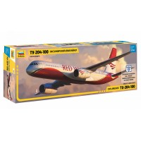 ZVD-7023 1/144 Tupolev Tu-204-100 Jet Passenger Airliner model kit