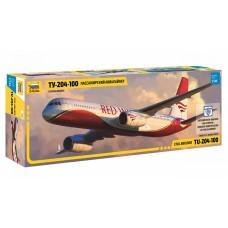 ZVD-7023 1/144 Tupolev Tu-204-100 Jet Passenger Airliner model kit
