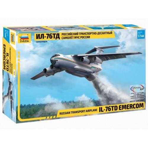 ZVD-7029 1/144 Ilyushin Il-76TD Russian Transport and Airborne Aircraft of EMERCOM model kit